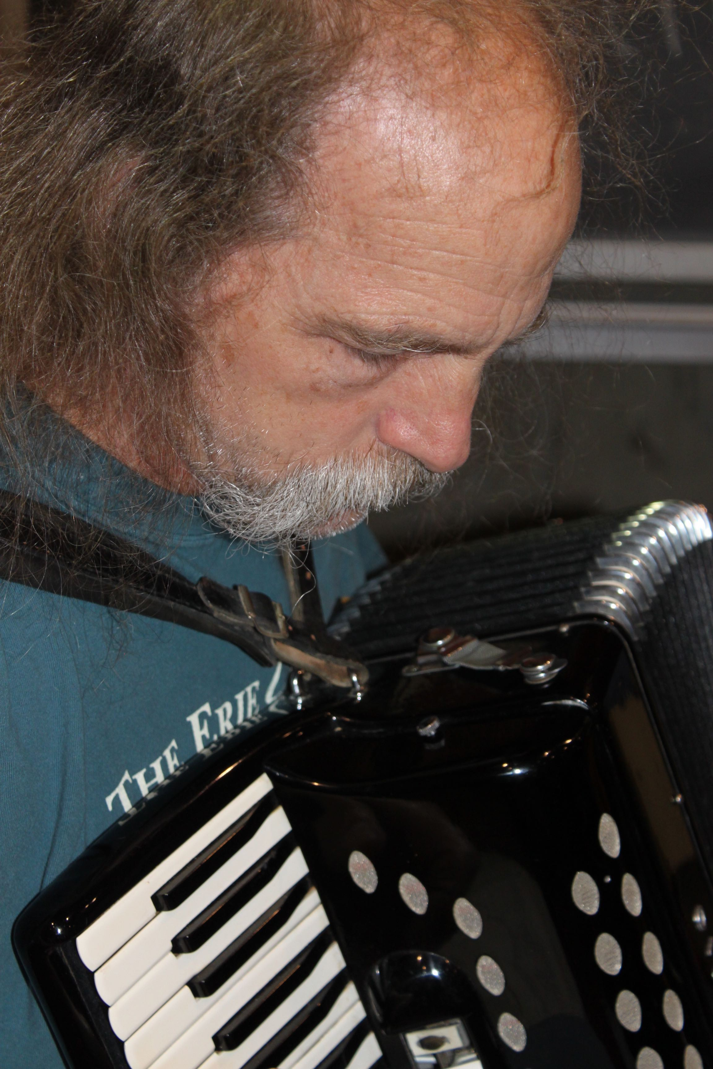 Tony Pisano of North Adams carries the melody on accordion. Photo by Susan Geller